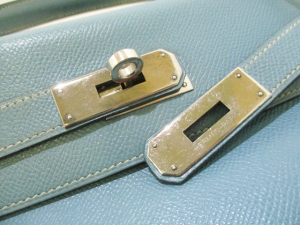 エルメス ハンドバッグ ケリー28 ブルージーン 内縫い/シルバー金具 3