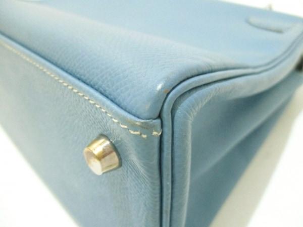 エルメス ハンドバッグ ケリー28 ブルージーン 内縫い/シルバー金具 6