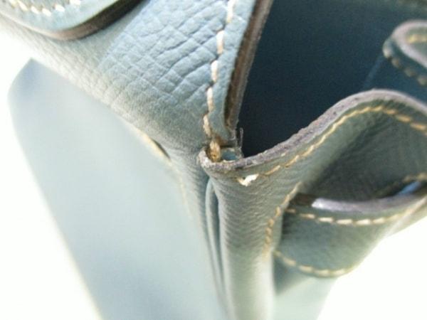 エルメス ハンドバッグ ケリー28 ブルージーン 内縫い/シルバー金具 7