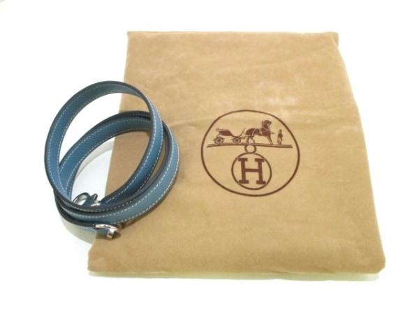 エルメス ハンドバッグ ケリー28 ブルージーン 内縫い/シルバー金具 9