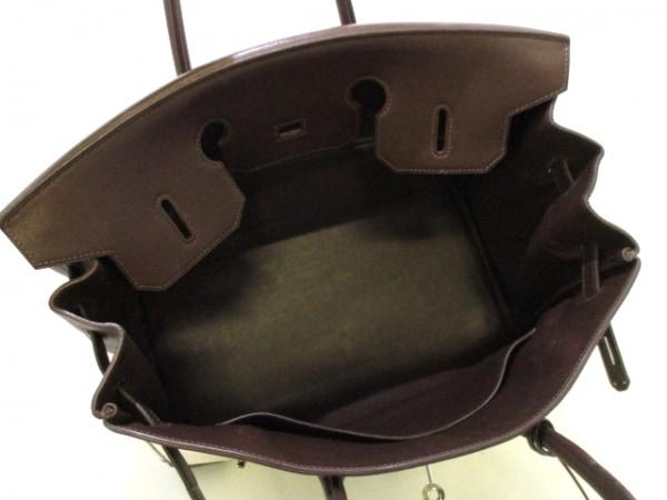 エルメス ハンドバッグ バーキン35 アイボリー×ハバナ シルバー金具 2