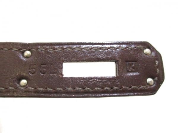 エルメス ハンドバッグ バーキン35 アイボリー×ハバナ シルバー金具 4