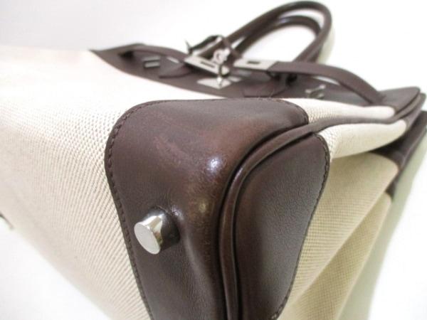 エルメス ハンドバッグ バーキン35 アイボリー×ハバナ シルバー金具 6