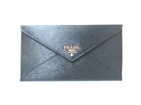 PRADA(プラダ) 札入れ美品  - 1MF175 黒 レザー 0