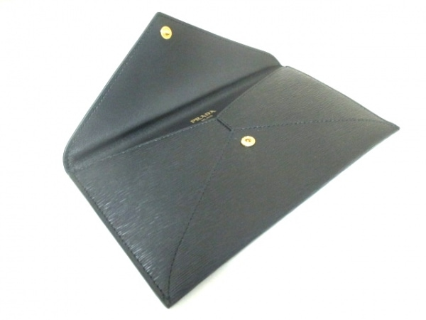 PRADA(プラダ) 札入れ美品  - 1MF175 黒 レザー 3