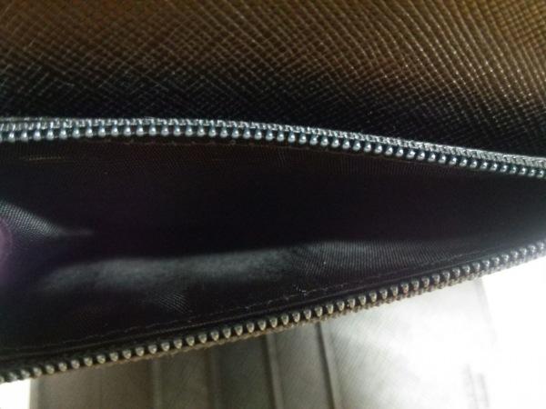 PRADA(プラダ) 3つ折り財布美品  - 黒×シルバー レザー×金属素材 4