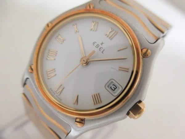 エベル 腕時計美品  クラシックウェーブ 1087121 レディース 白 0
