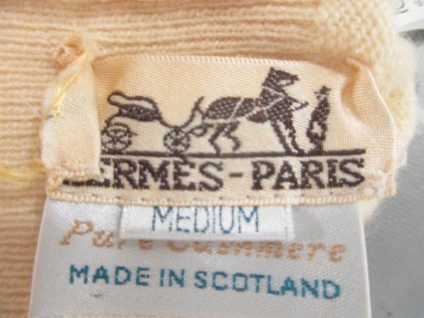 HERMES(エルメス) 長袖セーター サイズM レディース美品  ベージュ 3