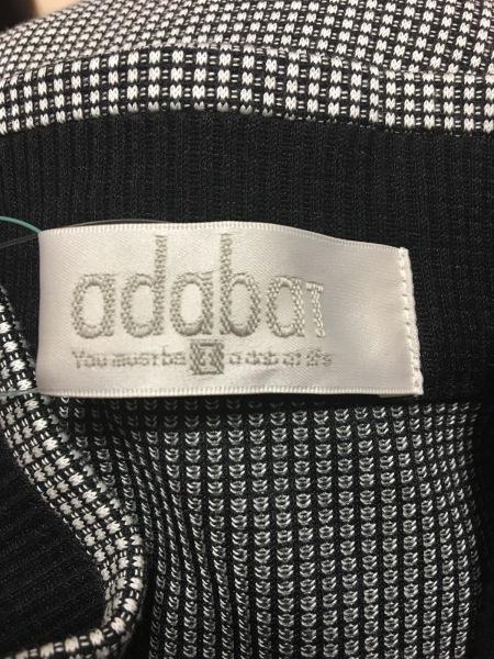 Adabat(アダバット) 長袖カットソー レディース新品同様  黒×白 3