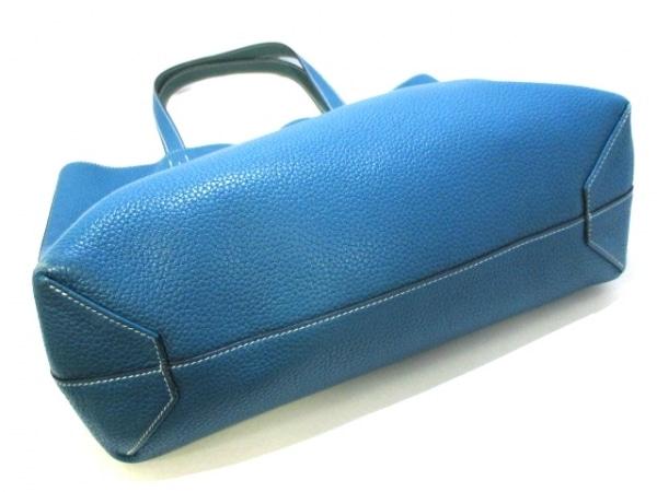 HERMES(エルメス) トートバッグ ドゥブルセンス45 ブルー×グリーン 4