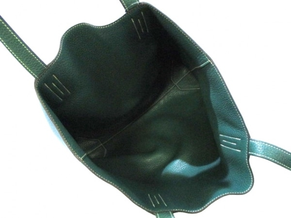 HERMES(エルメス) トートバッグ ドゥブルセンス45 ブルー×グリーン 5