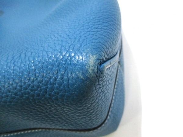 HERMES(エルメス) トートバッグ ドゥブルセンス45 ブルー×グリーン 8