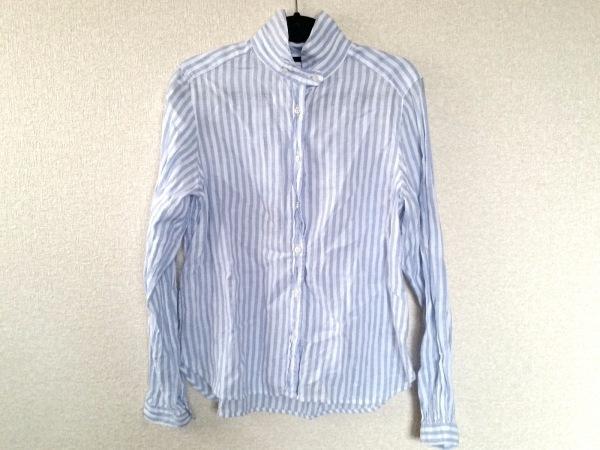 ネストローブ 長袖シャツブラウス レディース美品  白×ライトブルー 0