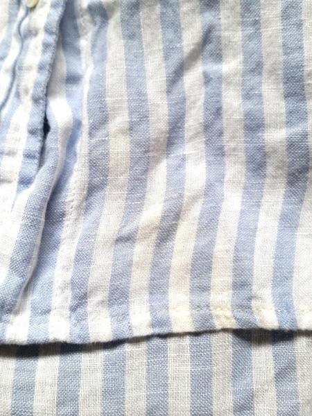 ネストローブ 長袖シャツブラウス レディース美品  白×ライトブルー 6