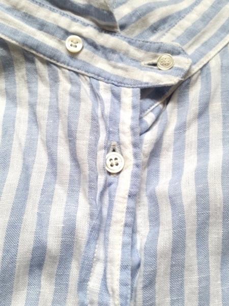 ネストローブ 長袖シャツブラウス レディース美品  白×ライトブルー 7