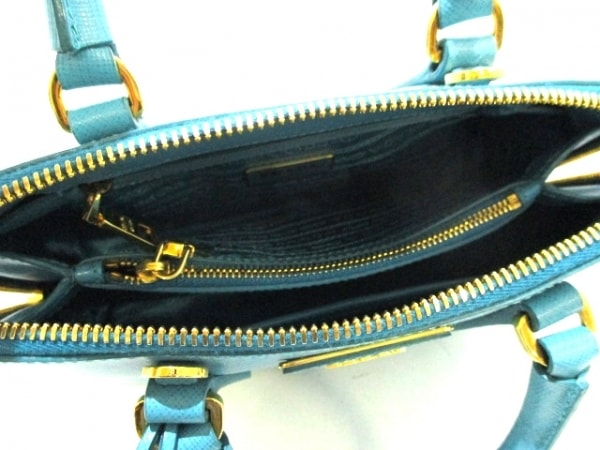 PRADA(プラダ) ハンドバッグ - ターコイズブルー サフィアーノレザー 5