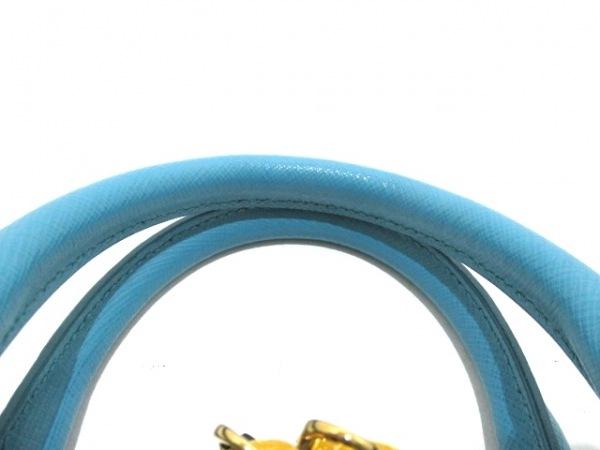 PRADA(プラダ) ハンドバッグ - ターコイズブルー サフィアーノレザー 8