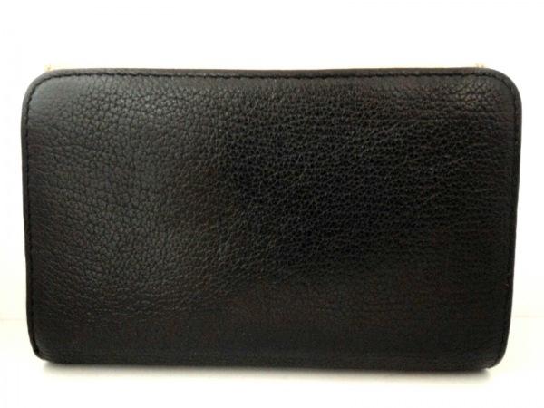 miumiu(ミュウミュウ) 3つ折り財布 - 5ML225 黒×ベージュ レザー 2