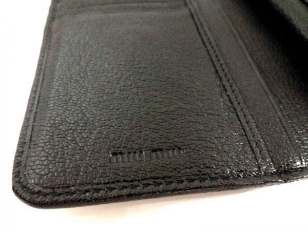 miumiu(ミュウミュウ) 3つ折り財布 - 5ML225 黒×ベージュ レザー 5