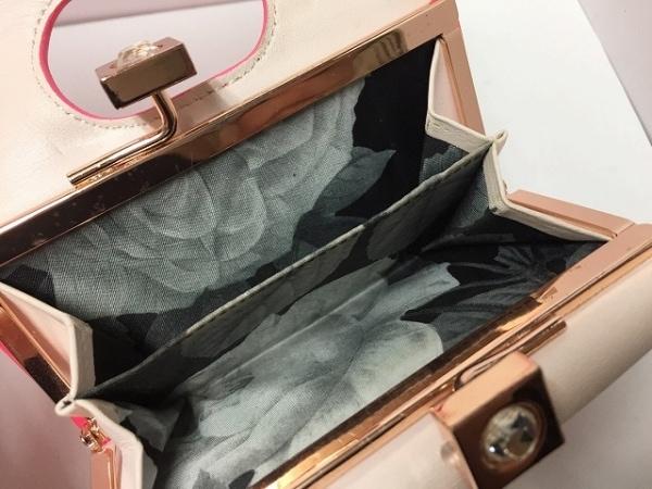 テッドベイカー 3つ折り財布 ピンク がま口/ラインストーン 4