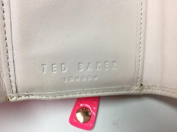 テッドベイカー 3つ折り財布 ピンク がま口/ラインストーン 5