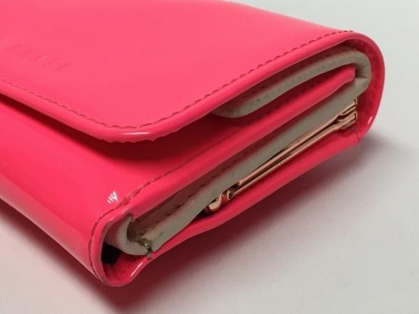 テッドベイカー 3つ折り財布 ピンク がま口/ラインストーン 6