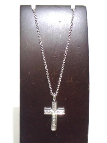 BVLGARI(ブルガリ) ネックレス ラテンクロス K18WG×ダイヤモンド 2
