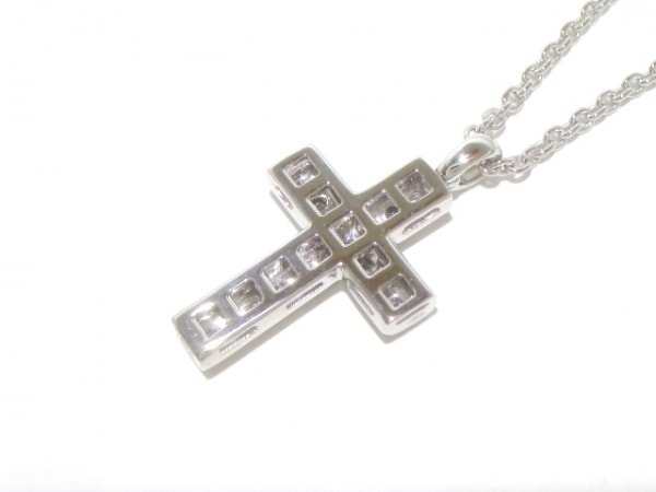 BVLGARI(ブルガリ) ネックレス ラテンクロス K18WG×ダイヤモンド 3