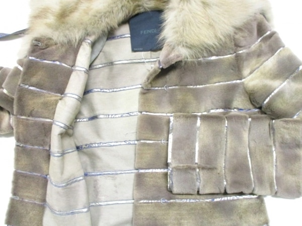 FENDI(フェンディ) コート サイズ40 M レディース ファー/冬物 5