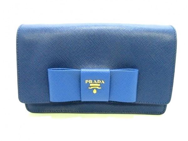 PRADA(プラダ) 財布美品  リボン BT1009 ネイビー×ブルー 0