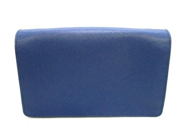 PRADA(プラダ) 財布美品  リボン BT1009 ネイビー×ブルー 2