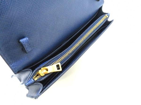 PRADA(プラダ) 財布美品  リボン BT1009 ネイビー×ブルー 3