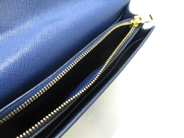 PRADA(プラダ) 財布美品  リボン BT1009 ネイビー×ブルー 5