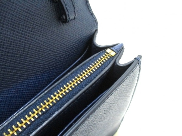 PRADA(プラダ) 財布美品  リボン BT1009 ネイビー×ブルー 6
