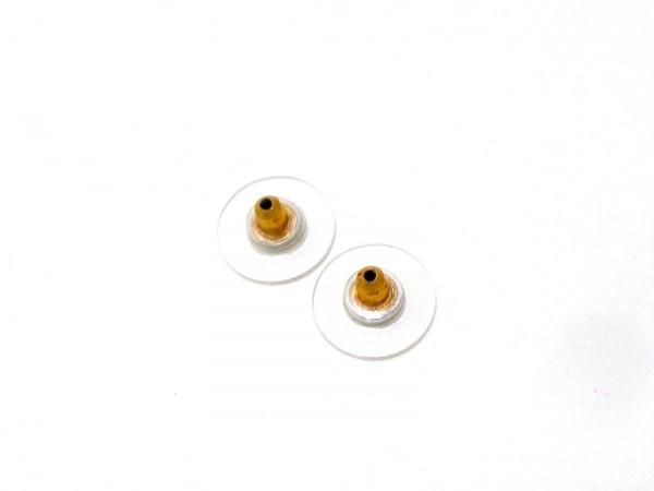 CHANEL(シャネル) ピアス 金属素材×レザー ゴールド ターンロック 5