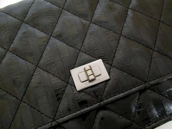 CHANEL(シャネル) 財布 マトラッセ/2.55 黒 レザー 8