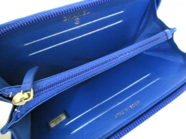 シャネル 財布美品  ボーイシャネル A80566 ブルー ラムスキン 3