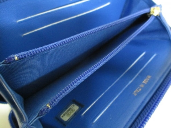 シャネル 財布美品  ボーイシャネル A80566 ブルー ラムスキン 4