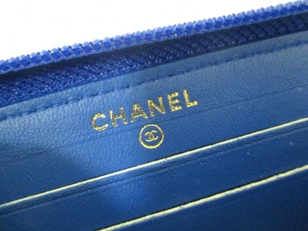 シャネル 財布美品  ボーイシャネル A80566 ブルー ラムスキン 5