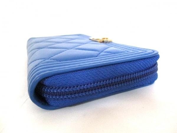 シャネル 財布美品  ボーイシャネル A80566 ブルー ラムスキン 6