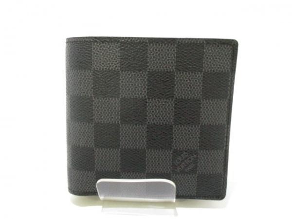 ルイヴィトン 2つ折り財布 ダミエグラフィット美品  N62664 0
