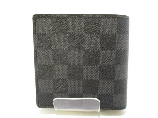 ルイヴィトン 2つ折り財布 ダミエグラフィット美品  N62664 2
