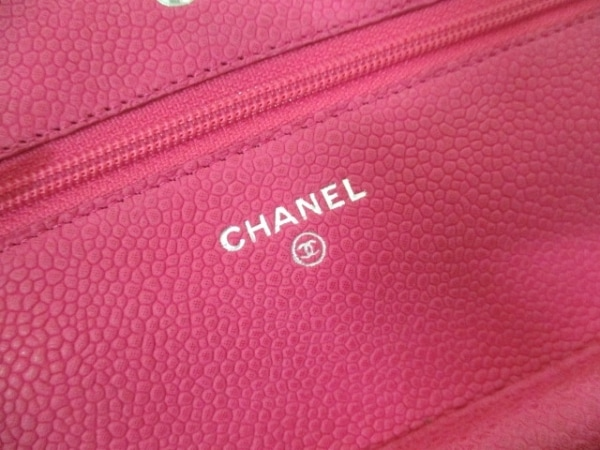 CHANEL(シャネル) 財布 マトラッセ A33814 ピンク キャビアスキン 4