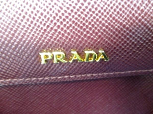プラダ トートバッグ ダブルバッグ - ボルドー サフィアーノレザー 6