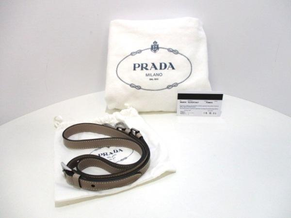 PRADA(プラダ) ハンドバッグ美品  - BN2619 グレージュ レザー 9