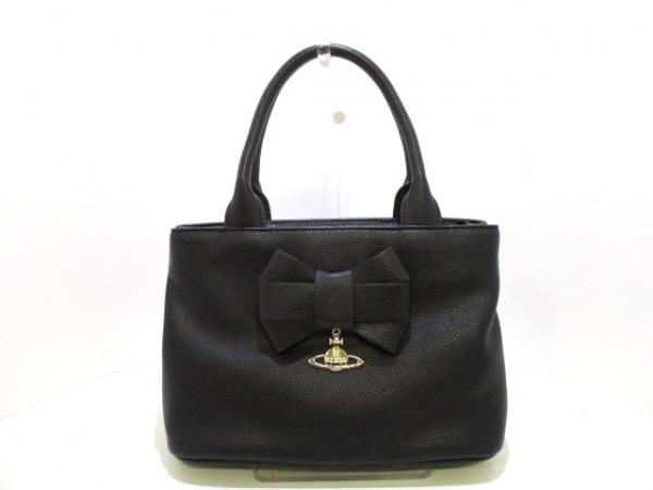 ヴィヴィアンウエストウッドアングロマニア ハンドバッグ美品  黒 0