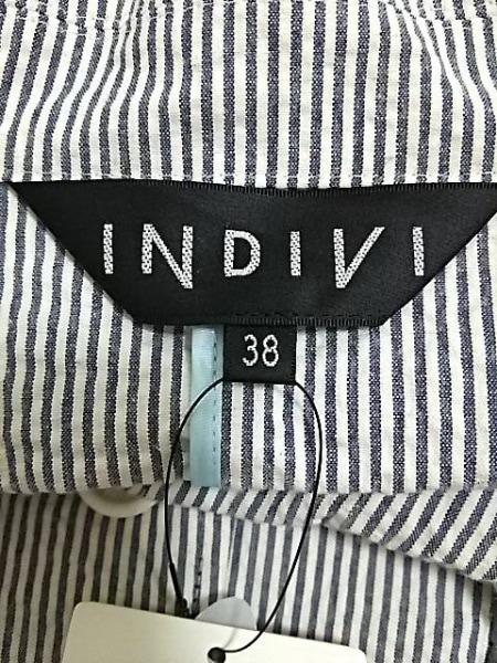 インディビ ジャケット サイズ38 M レディース新品同様  ストライプ 3