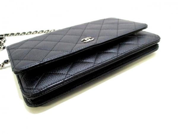 CHANEL(シャネル) 財布美品  マトラッセ A33814 黒 キャビアスキン 6