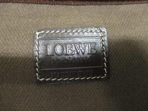 LOEWE(ロエベ) バニティバッグ - 黒×ブラウン×ダークブラウン 6