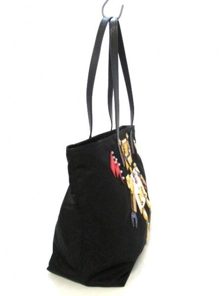 プラダ ショルダーバッグ美品  - 1BG052 黒×イエロー×マルチ 2
